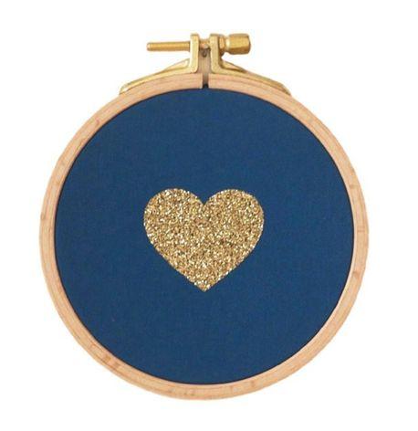 cadre coeur bleu canard et dore little miss beauty. Black Bedroom Furniture Sets. Home Design Ideas